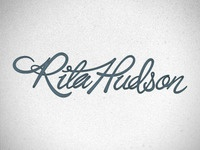 Rita Hudson - getting the full treatment.