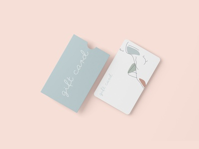 Gift card 1 gift card body aesthetic medicine cosmetology logo typography branding design female