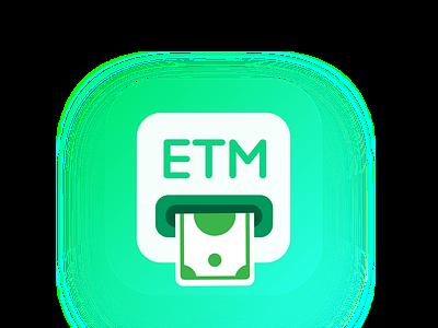 E.T.M APP Icon/Logo money atm app icon