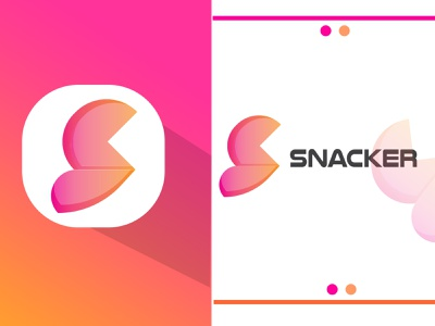 SNACKER logo modern business logo letter logo brand logo modern logo for business a modern logo business logo modern logo design logo design modern logo design typography modern logo vector illustration minimal icon modern graphic design design logo branding