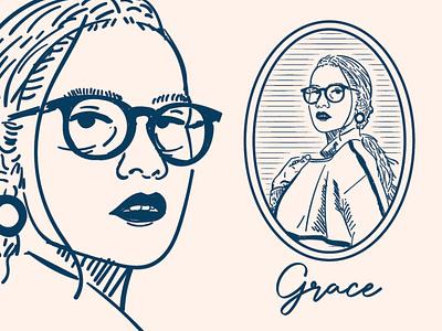 Vintage Line Art Portrait branding logo woman vectorart modernlineart vintage vintagelogo illustration vector design portrait lineart line graphic design