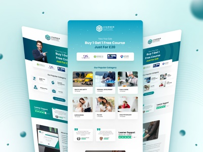 Email Template Design for Learner's Support 2021 trend landing page design design landing page learning management system lms templates