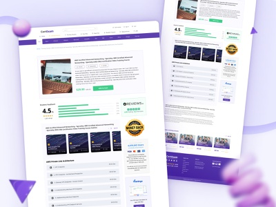 Landing Page Design for CartExam lms templates