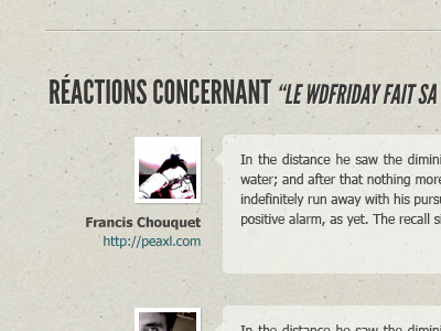 Réactions wdfr blog comments