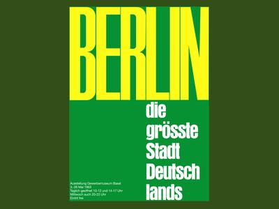 Berlin Poster by Emil Ruder