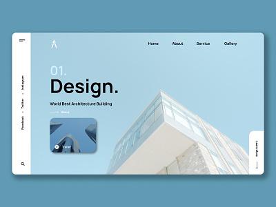 Arch Website Design architectural architecture architect branding web website minimal ux flat design ui