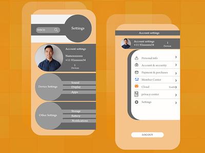 #DailyUI Challenge007 graphic design app clean flat vector illustration design ui
