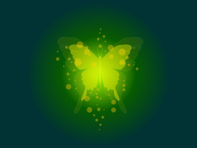Glowing Butterfly clean graphic design flat vector illustration design ui