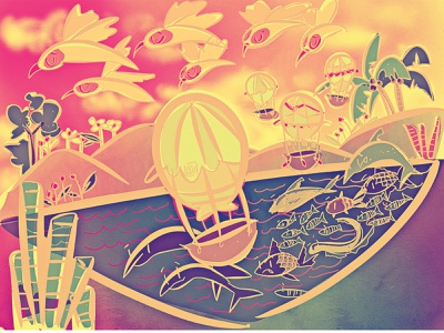 whimsical landscapes cute art kidlitart design illustration
