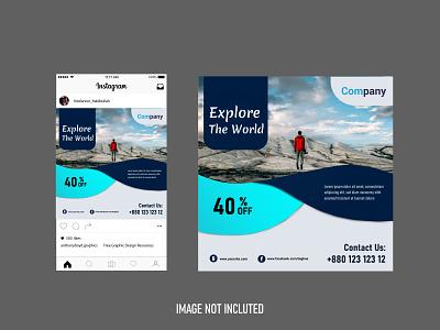 travel agency social media design twitter post fb post facebook post instagram post social media grow your business social media design