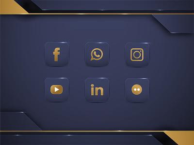 luxury social media icon icon icon youtube linked instagram whatsapp fb facebook social media luxury background luxury social media design luxury background social media icon icon