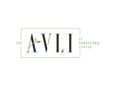 The Avli leaves apartment logo design visual identity illustration brand identity orlando logo branding design