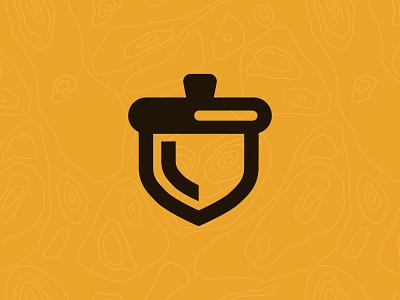 Acorn Icon retro identity nature tree acorn logo branding orlando cute design illustration