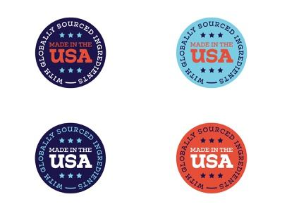 Made in the USA icon work made in america made in the usa usa badge logo typography ux branding design