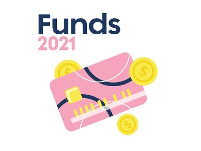 2021 Resolutions – Funds finances banking pink resolutions 2021 new years savings money credit card retro fun branding orlando cute illustration design