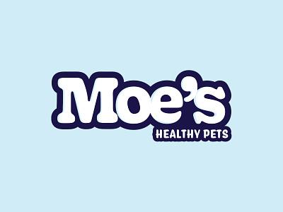 Moe's Healthy Pets Logo identity logotype branding moe bubbly blue pets typography logo orlando cute design