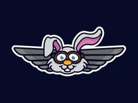 Flying Rabbit Badge