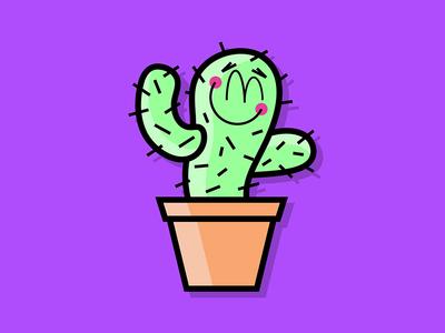 Cute Cactus Lapel Pin