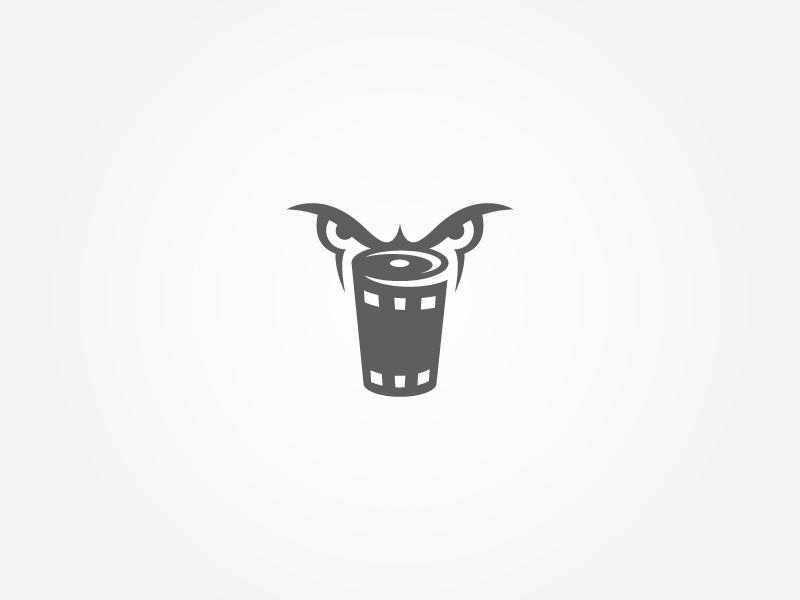 Angry Media. Haha vector concept logo media angry