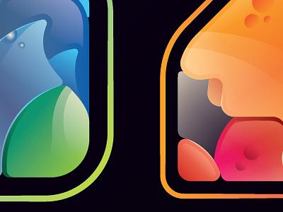 Kolor Karma Project glossy vector logo symbol icon