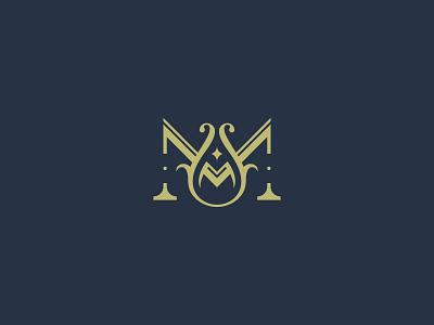 Letter M luxury minimal design simple logo classic