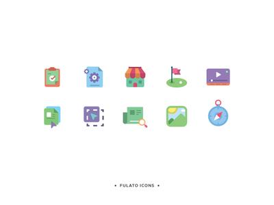 Fulato Icons icons flat simple colorful design minimal logo