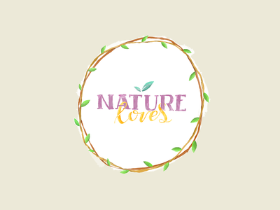 Nature Loves HUE digital watercolor color illustration