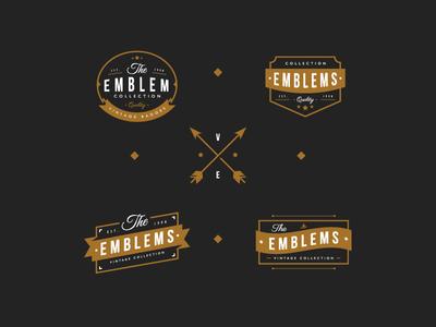 Emblem Collection badges label emblem vintage