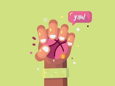 Dribbble Invite dribbble invite cute color illustration