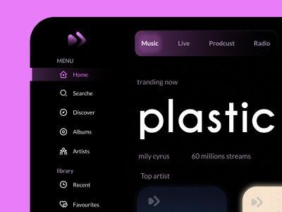 play after - Music Streaming Dashboard song beats music player application music app modern musician mobile music web app typography icon branding logo illustration design ux ui design ui