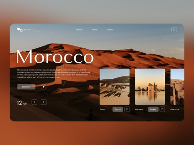 morocco web site tourism leading page design moroccan web cool modern sahara arab traveling travel tourism typography figma minimal design ui ux ui design website morocco