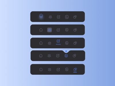 Navigation bar mobile app bottom bar navigate dark blue modern navigation menu dark mobile app mobile navigation icon simple figma navigation bar application app minimal ui design ux ui design