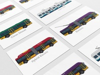 Transit Vehicles Vector Illustration