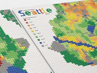Lego Map - Income in Seattle