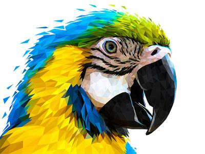Low Poly Glitch Parrot