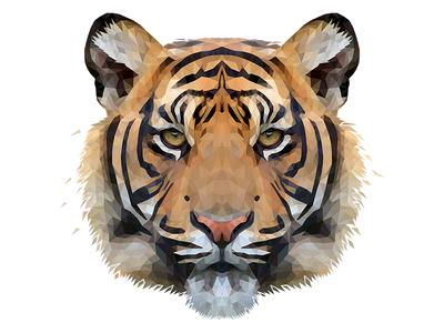 Low Poly Glitch Tiger