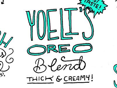 1982 Coffee oreo shops menu storefront restaurants food handlettering typography cafe coffee illustration zine
