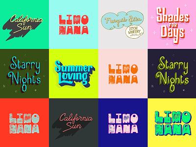 Summer Loving typography lettering outdoors night sun california drinks shades starry nights summer zine handlettering