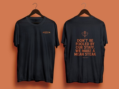 BS Co. Tshirts eat steakhouse brand devopment apparel copy tshirt branding restaurant meat steak booklyn