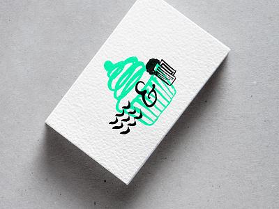 Beaches & Cream Card brand dev logomark cafe cupcakes beer illustration waves print mockup business cards