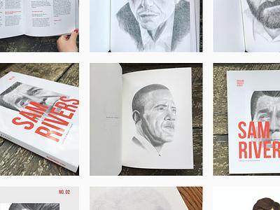Screen Shot instagram portraits zine editorial book design. layout blurb zine series passion project