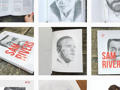 Screen Shot instagram portraits zine editorial book design. layout blurb zine series passion project