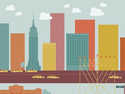 Happy Chanukah! chanukah illustration nyc hanukah holiday hannukah