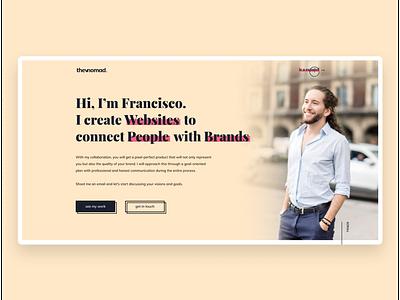 thevnomad - Personal Portfolio portfolio webflow branding logo design web development ux ui dribbble web design