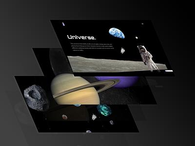 Parallax Universe photoshop webflow lottie animation parallax 3d illustration logo design web development web design ux ui dribbble