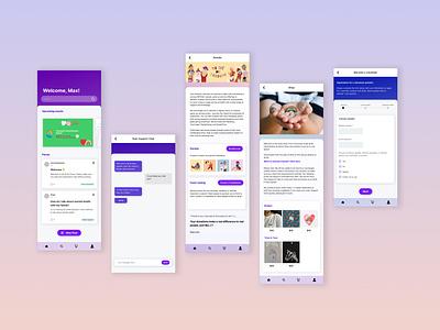 QLife branding ui ux mobile app