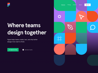Hero Concept for Figma figma illustration homepage website product user interface interface web web design ui