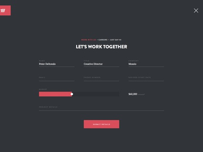 Contact Form page ui web typography dark ux design ui design web design website contact form form contact