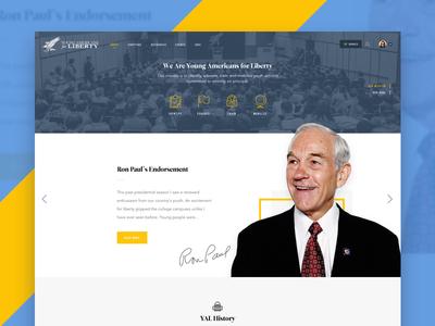 YAL About Page website testimonials history web ui responsive politics slider political testimonial liberty about