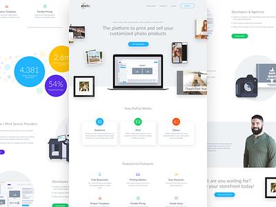 Print Platform Homepage product hero interface ui landing clean minimal printing photography web web design homepage